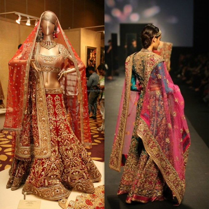 Best Tarun Tahiliani Bridal Heavy Work Lehenga