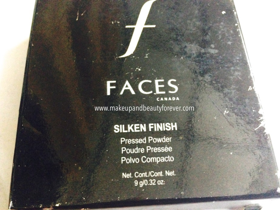 Faces Canada Silken Finish Pressed Powder Review India