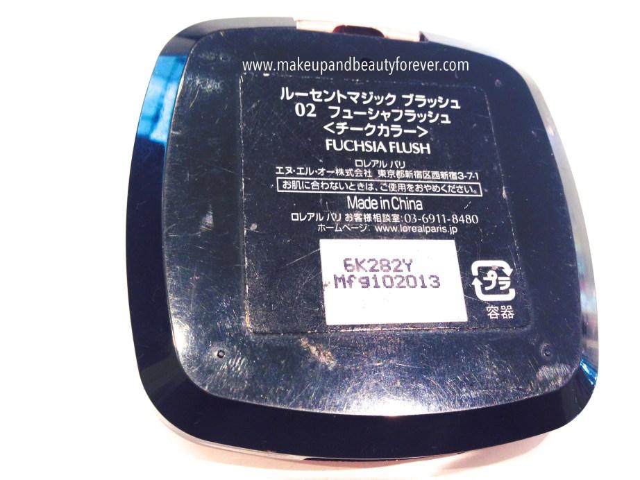 LOreal Paris Lucent Magique Blush Fuchsia Flush Review, Swatches, Price Details