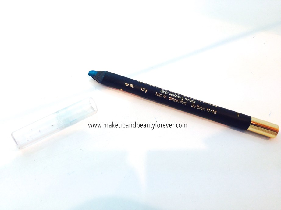 Lakme 9 to 5 Glide On Eye Color Aqua Marine Review Swatches, Price and Details