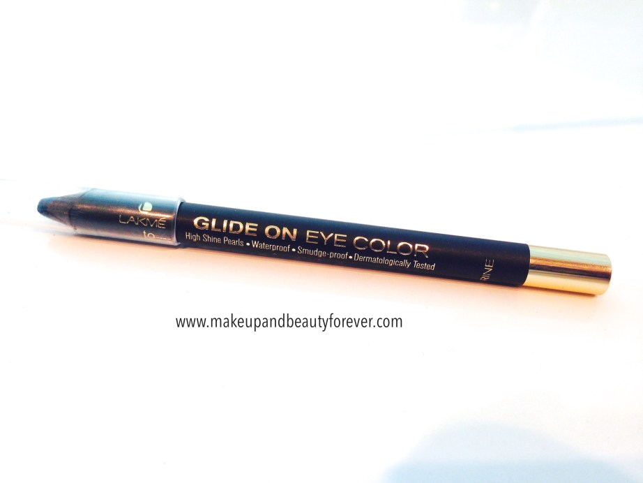 Lakme 9 to 5 Glide On Eye Color Aqua Marine Review, Swatches, Price and Details