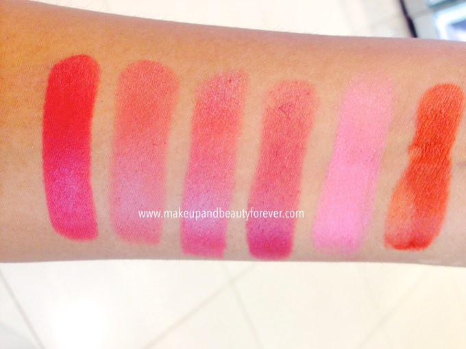 Lakme 9 to 5 Matte Lipstick Lip Color Review, Shades Swatches, Price and Details