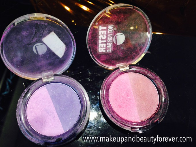 Lakme Absolute Drama Stylist Eye Shadow Duos Purple Haze and Pink Wink Review Swatches, Price and Details