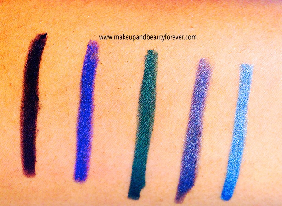 Lakme Absolute Forever Silk Eye Liner Gypsy Green Lakme Absolute Forever Silk Eye Liner Blue Cosmic  Lakme Absolute Forever Silk Eye Liner Electric Violet