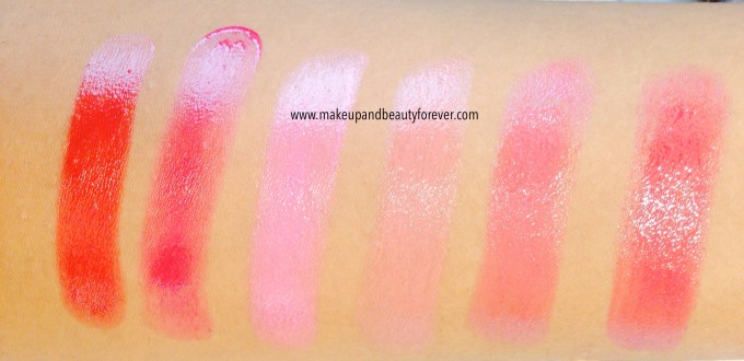 Lakme Absolute Gloss Addict Lip Color Lipstick Red Delight, Plum Perfect, Pink Passion, Bare Beige, Berry Rose, Berry Crush