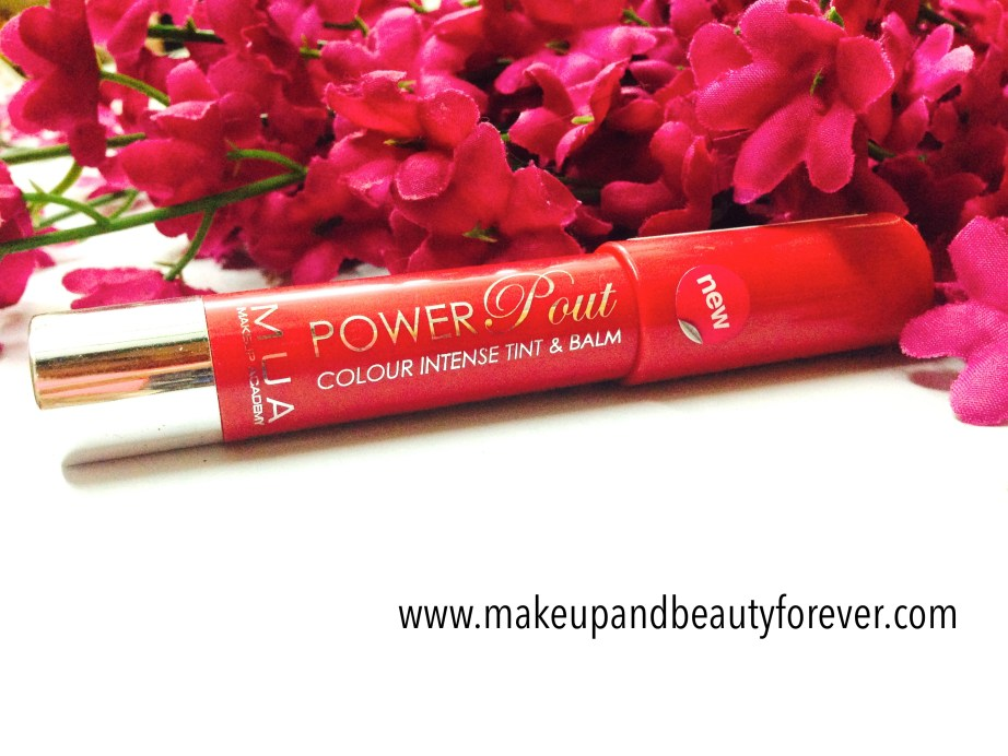 MUA Power Pout Colour Intense Tint and Balm Broken Hearted Review and details