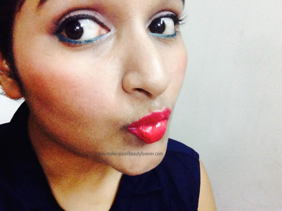 Maybelline Color Show Lipstick Cherry Crush 207 Review, Swatch, Price, FOTD Astha Goel