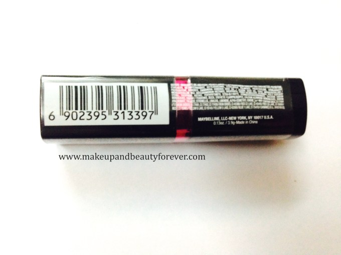 Maybelline ColorShow Lipstick Crushed Candy 103 Review, Swatch, Price, FOTD ingredients