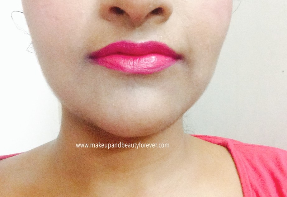 Maybelline ColorShow Lipstick Fuchsia Flare 110 Review, Swatch Price, FOTD