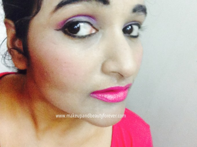 Maybelline ColorShow Lipstick Fuchsia Flare 110 Review Swatch Price FOTD