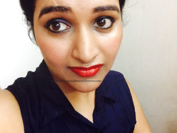 Maybelline ColorShow Lipstick Red Rush 211 Review, Swatch, Price, FOTD Astha MBF