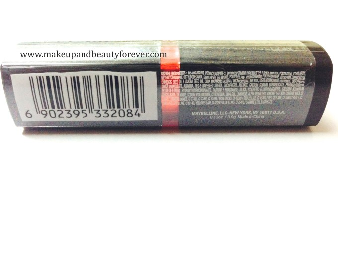 Maybelline ColorShow Lipstick Red Rush 211 Review, Swatch, Price, FOTD indian