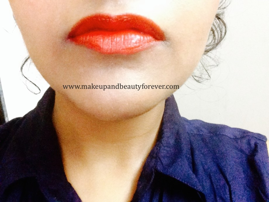 Maybelline ColorShow Lipstick Red Rush 211 Review, Swatch, Price, FOTD shades