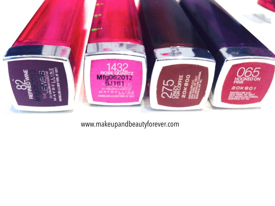 Maybelline The Jewels by Colorsensational Lipsticks Review, Shades, Swatches, Price and Details
