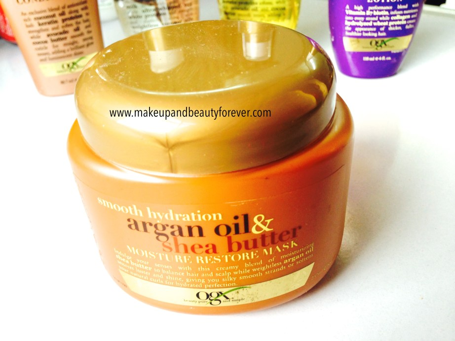 Organix Smooth Hydration Argan Oil and Shea Butter Moisture Restore Mask