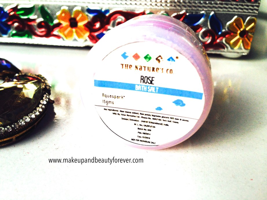 Rose Bath Salt by The Nature's Co in beauty wish box bridal bliss
