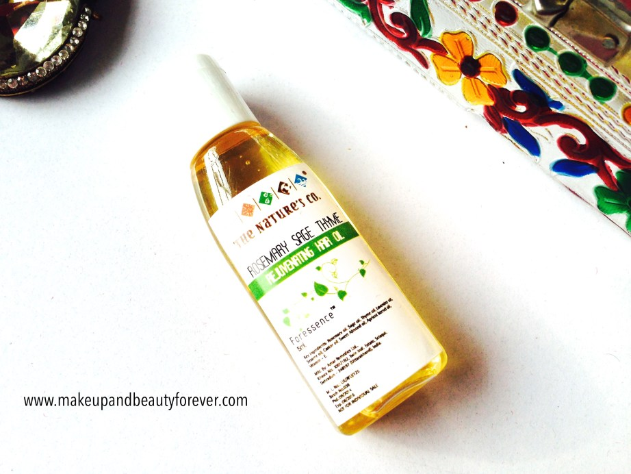 Rosemary Sage Thyme Rejuvenating Hail Oil The Nature's Co in beauty wish box bridal bliss
