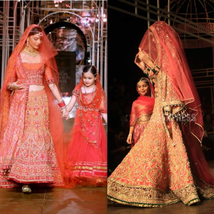 Tarun Tahiliani Bridal Lehenga Red and Orange