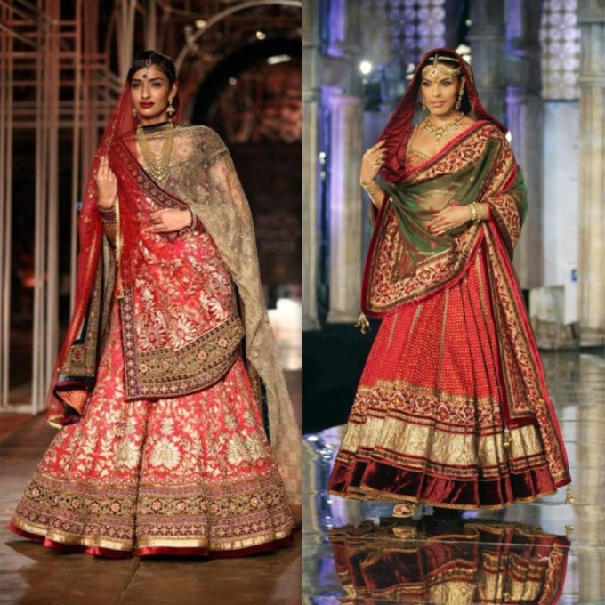 Tarun Tahiliani Bridal Red Lehenga