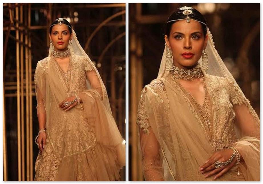 Tarun Tahiliani Cream Bridal Lehenga