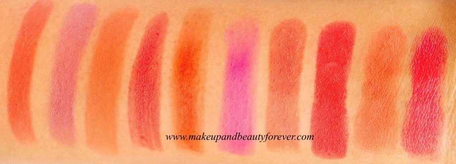 All Revlon Super Lustrous Lipstick Shades swatches Available in India MBF
