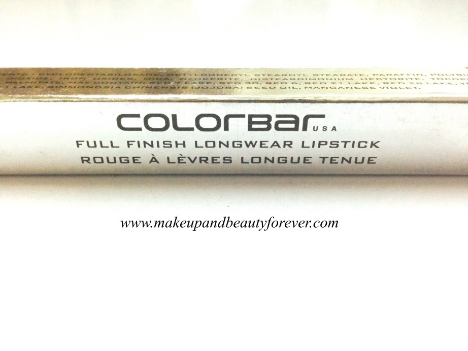 Colorbar Full Finish Long Wear Lipstick Get Ready 11 Review, Swatch, FOTD 9