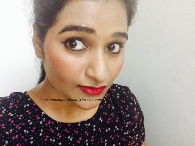 Colorbar Full Finish Long Wear Lipstick Get Ready 11 Review, Swatch, FOTD Astha Goel MBF