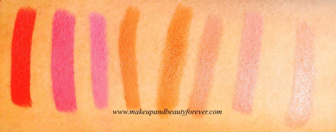 Colorbar Take Me As I Am Lipstick Peachy Pink Colorbar Take Me As I Am Lipstick Truesome Pink 15 Colorbar Take Me As I Am Lipstick Expressive Peach 17 Colorbar Take Me As I Am Lipstick Dragging Rust 18