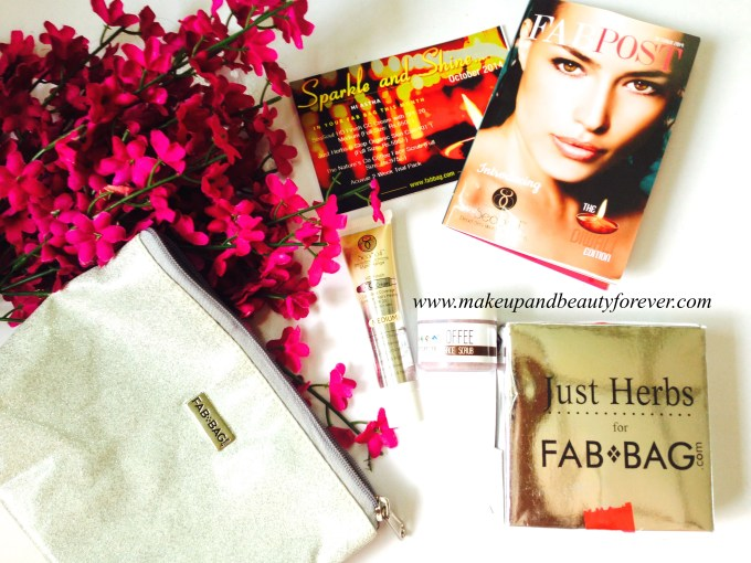 Fab Bag October 2014 Review products