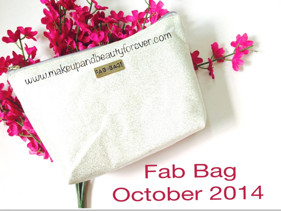 Fab Bag October 2014 Sparkle and Shine Diwali Special Edition India