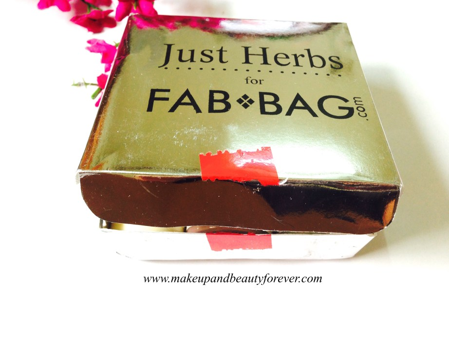 Just Herbs products Fab Bag October 2014 in India