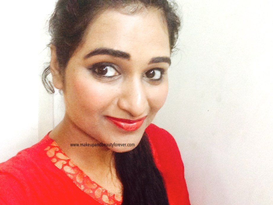 Maybelline ColorShow Lipstick Red My Lips 202 Review, Swatch, Price, FOTD Astha MBF