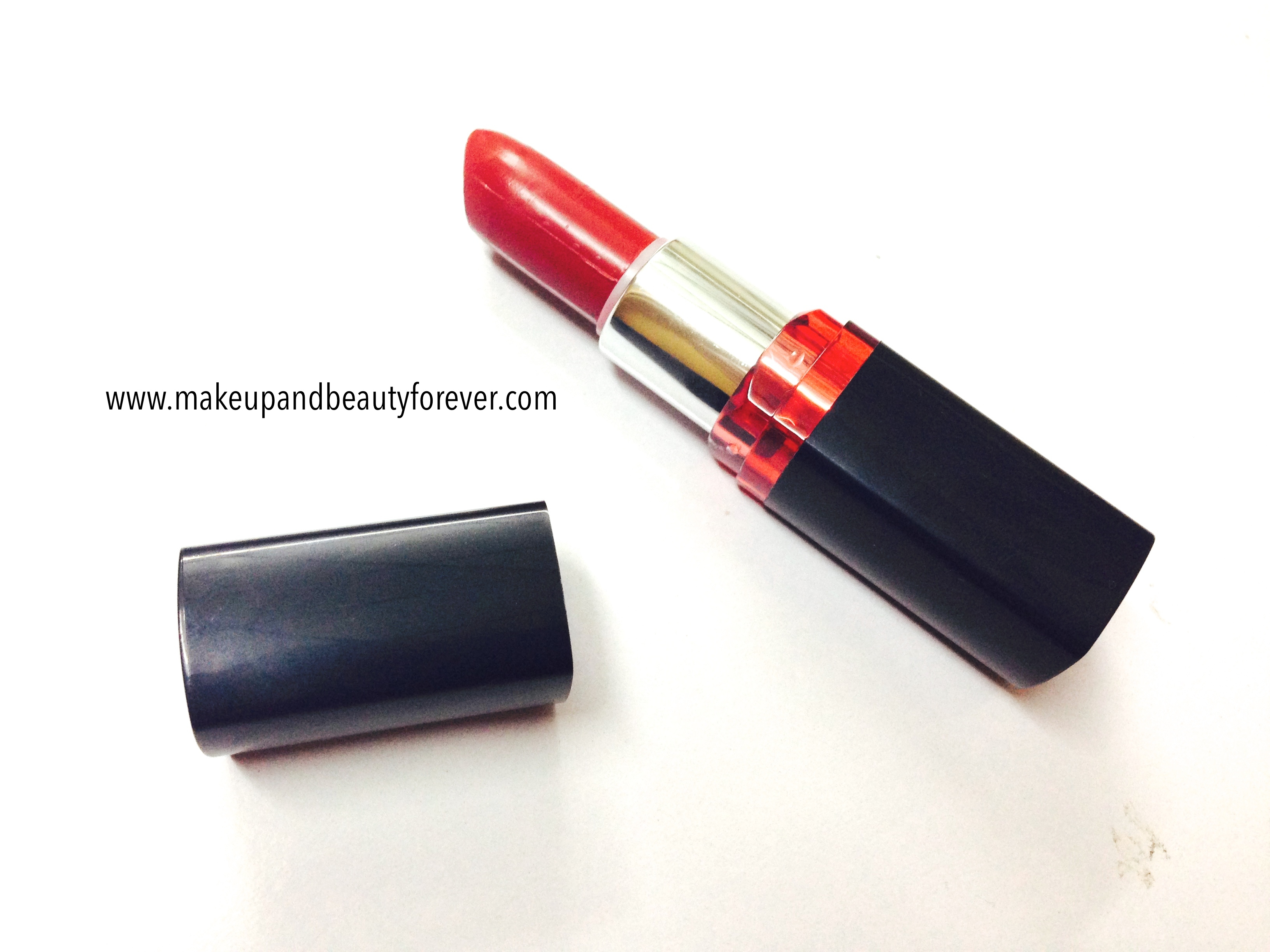 7b2742d6b43 Maybelline ColorShow Lipstick Red My Lips 202 Review