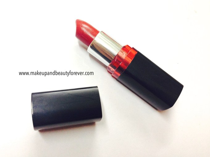 Maybelline ColorShow Lipstick Red My Lips 202 Review, Swatch Price, FOTD