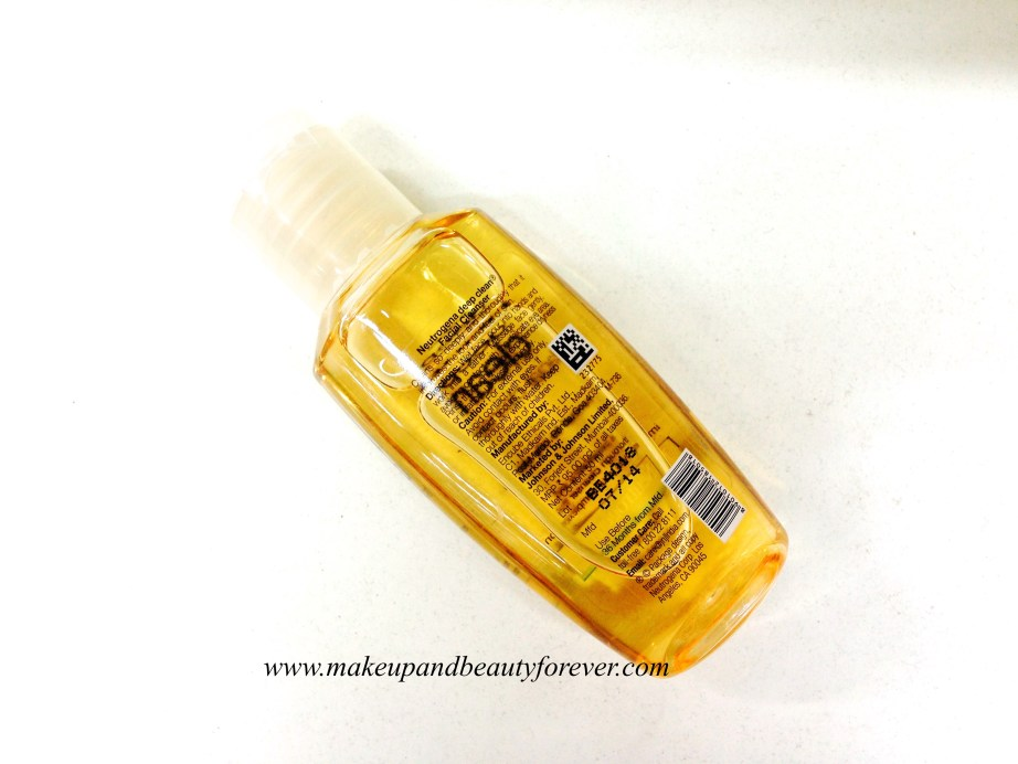Neutrogena Deep Clean Facial Cleanser Review India