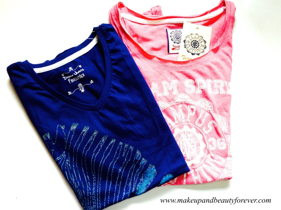 Blue and Pink Casual Tops