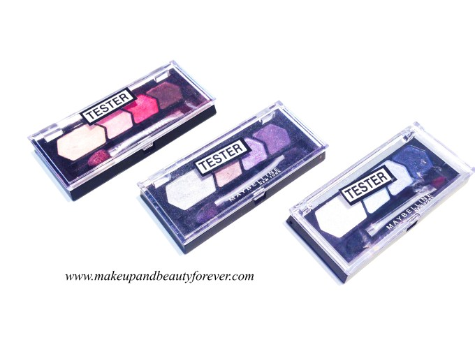 Maybelline Diamond Glow Eye Shadow by Eyestudio Review, Shades, Swatches, Price and Details Copper Brown Wine Pink Grey Pink Ocean Blue Lilac Mauve