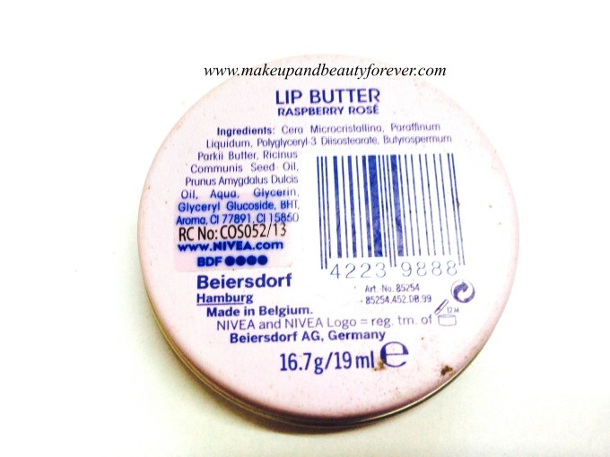 Nivea Lip Butter Raspberry Rose Review MBF India