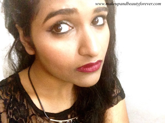 L'Oreal Color Riche Pure Reds Star Collection Pure Garnet Lipstick Review Swatch FOTD