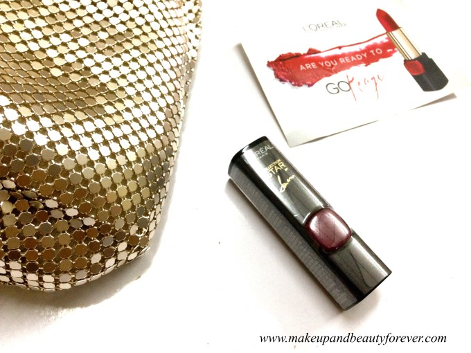 L'Oreal Color Riche Pure Reds Star Collection Pure Garnet Lipstick Review Swatch LOTD FOTD 7
