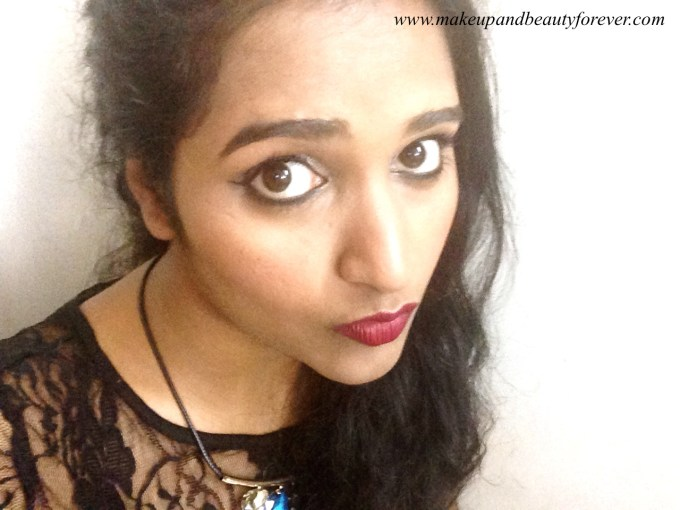 L'Oreal Color Riche Pure Reds Star Collection Pure Garnet Lipstick Review Swatch LOTD FOTD Astha Goel Sonam Kapoor 2