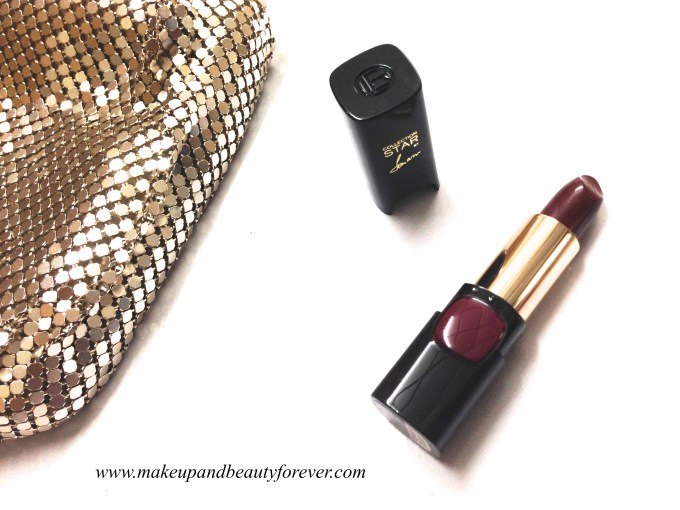 L'Oreal Color Riche Pure Reds Star Collection Pure Garnet Lipstick Review Swatch LOTD FOTD Shade by Sonam Kapoor
