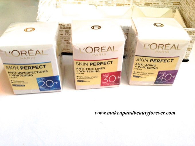 L'Oreal Paris India Skin Perfect Range - Skin Care for every Age MBF