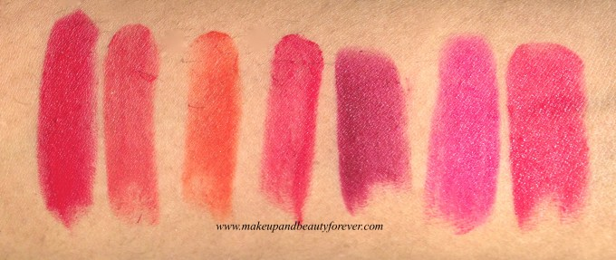 Loreal Pure red star collection pure scarleto, pure brick, pure fire, pure vermeil, pure garnet, pure amaranthe, pure rogue shade swatch swatches price details