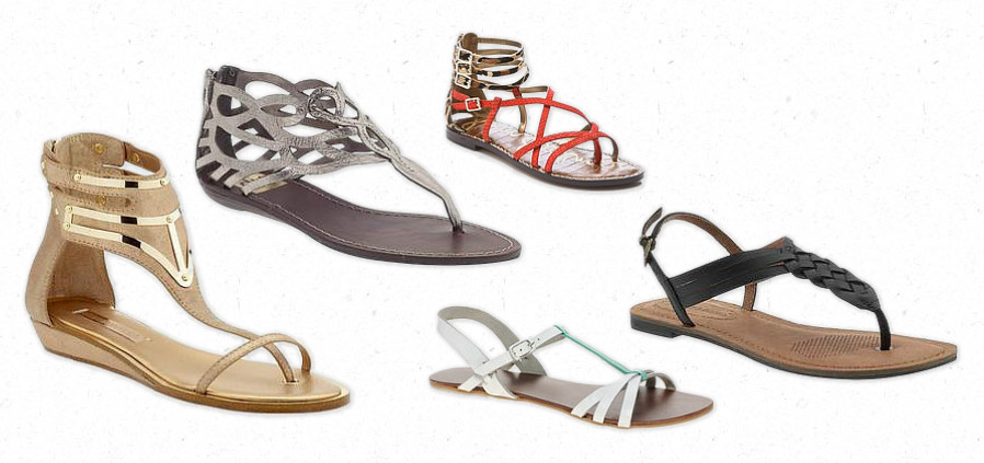 Cute flat sandals Fashion India