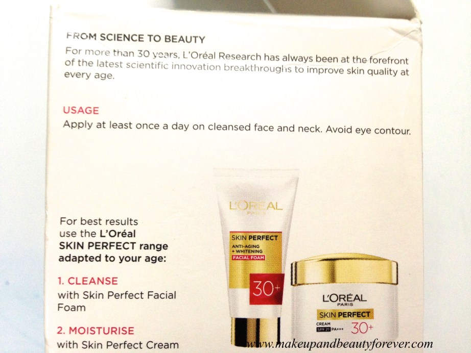 L'Oreal Paris Skin Perfect Anti-Fine Lines + Whitening for age 30+ Cream Review 2