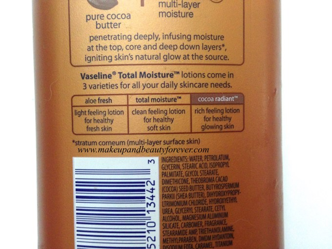 Vaseline Total Moisture Cocoa Glow Radiant Body Lotion Review 3