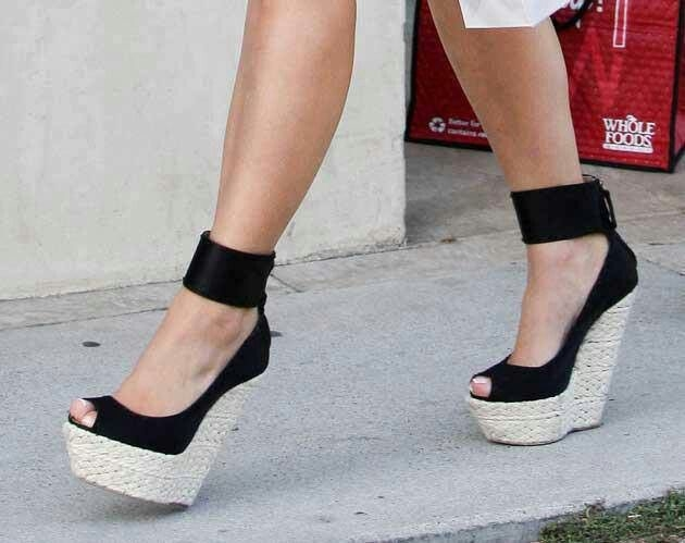platform wedges black style shoes india