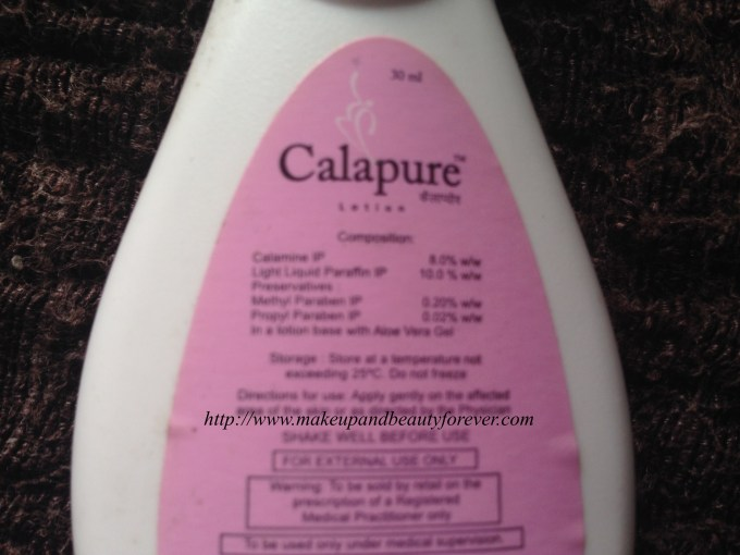 Calapure Calamine and Light Liquid Paraffin Lotion Review 2