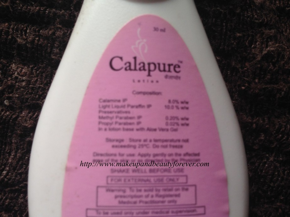 Calapure Calamine and Light Liquid Paraffin Lotion Review 2